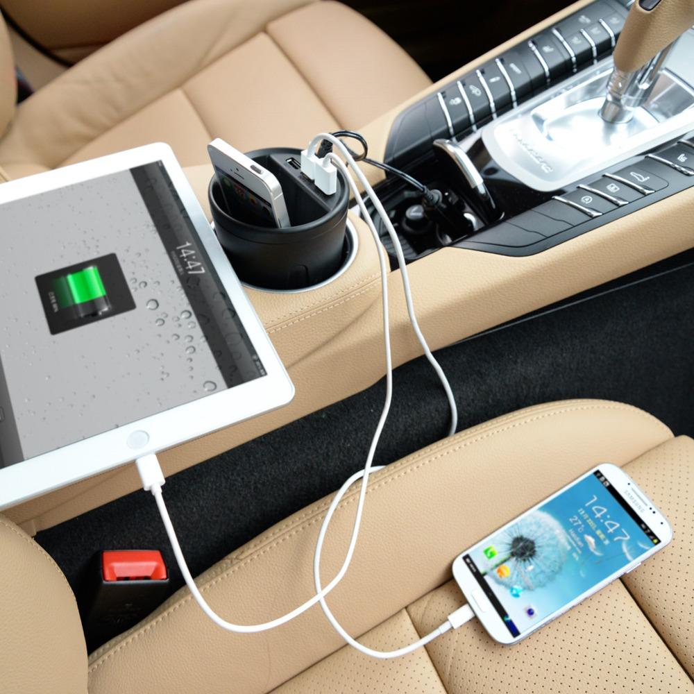 3 разъём(ов) творческий USB зарядное 2.4A автомобильное * 3 с интеллектуальным зарядки IC для iPad / iPhone