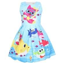 Летнее свободное платье для девочек, платье для девочек с принтом бабочки, платье принцессы для подростков, вечерние платья для маленьких д...(Китай)