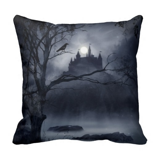 Outstanding Gothic Night Fantasy Throw Pillow Case (Size: 20