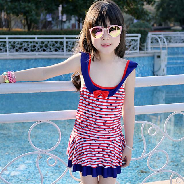 2016 Baby Girls Swimming Clothes Kids Beach Swimwear