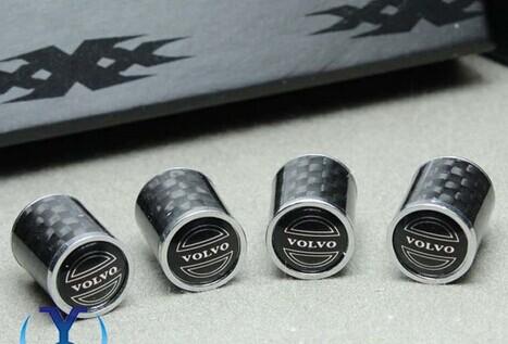 1 компл. углеродного волокна воздуха автомобиля крышки колеса автомобиля шин шин клапаны для Volvo s70, s80 т . д .