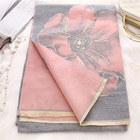 Scarf Hot Selling Pashmina Jacquard Flowers Scarf Shawl For Women