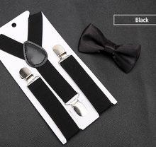 Детские подтяжки с галстуком-бабочкой; модный детский комплект с галстуком-бабочкой; подтяжки для мальчиков и девочек; регулируемые подтяж...(Китай)