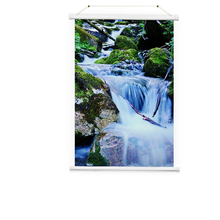 Изготовленный на заказ высококачественный пейзажный постер-свиток размером на заказ с собственной фотографией
