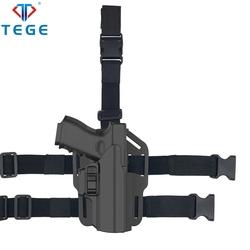 Полицейское снаряжение Tege, универсальная Полимерная Кобура IPSC с поворотом на 360 градусов
