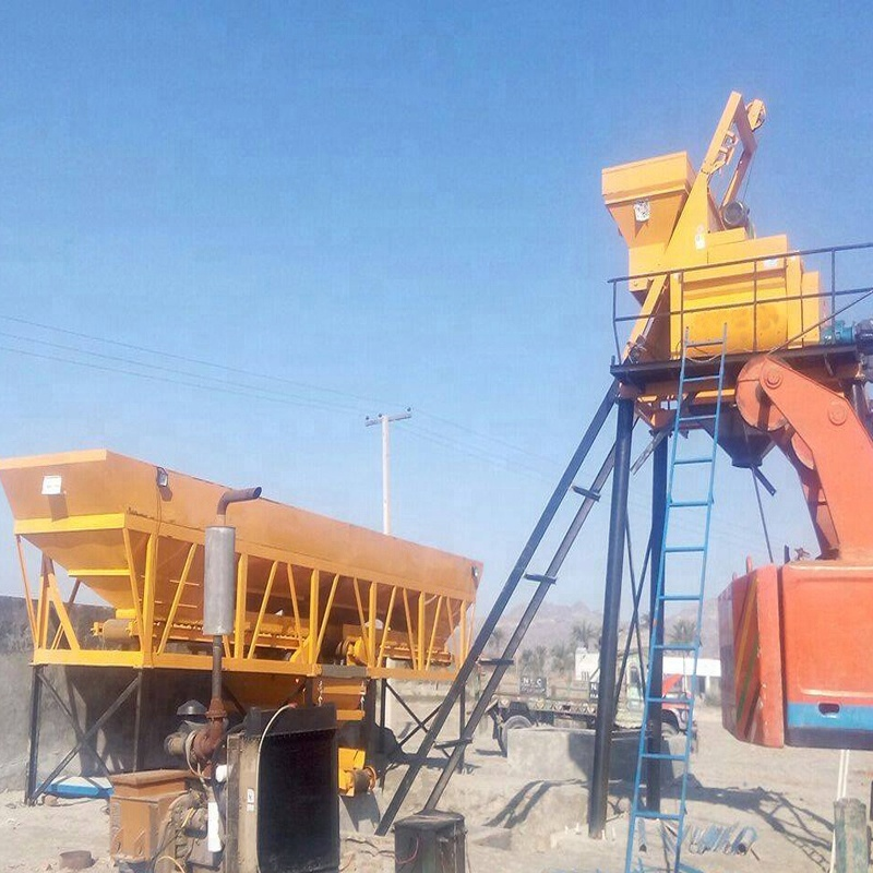 Low Cost HZS25 mini concrete mixing plant for sale