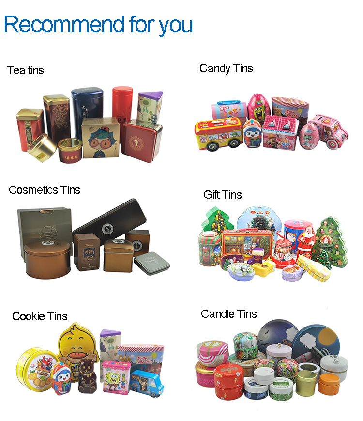 customized gift tins packaging cookie metal tin box
