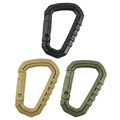 4Pcs Lot D Shape 200LB Mountaineering Buckle Snap Clip Plastic Steel Climbing Carabiner Hanging Keychain Hook