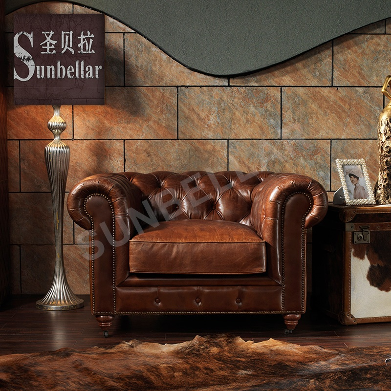 Used best vintage leather chesterfield sofa chesterfield-sofa genuine leather