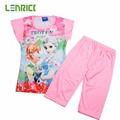 Lenrick 2016 Pajamas for Girls Pijamas Set Baby Girls Kids Clothes Children Cartoon Clothing Set Princess