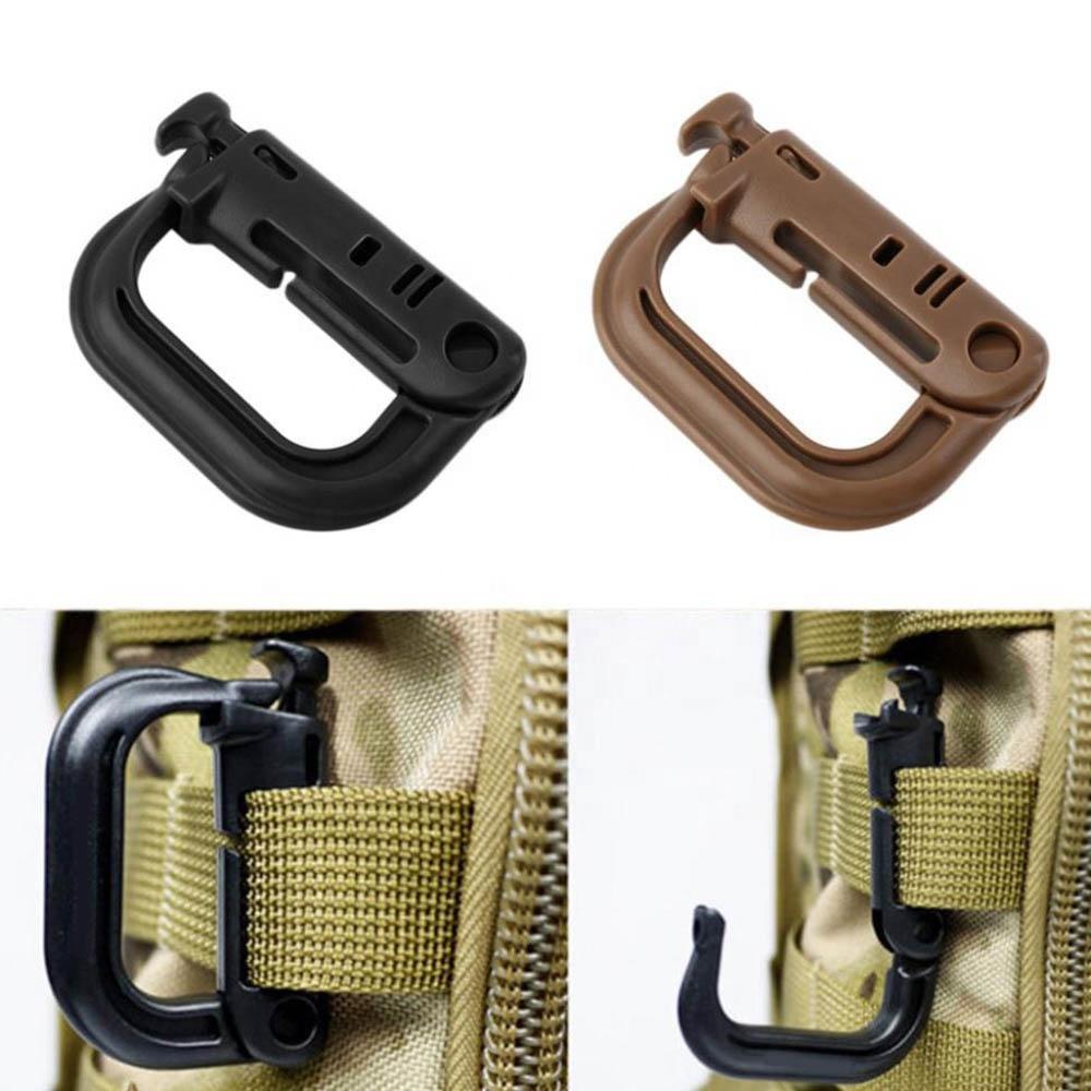 Tactical Safety Lock D-ring Carabiner Grimloc Hook Clip Molle Webbing Buckle For backpack molle system