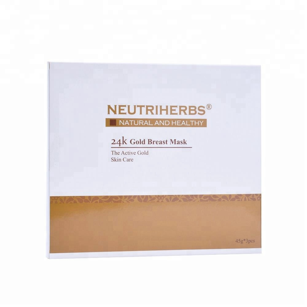 Korean private label breast firming gold collagen sheet mask wholesale