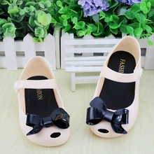 13 17cm Summer Bow Princess Jelly Girl Sandals Mini Melissa Shoes Children Beach Shoes Cute Cat