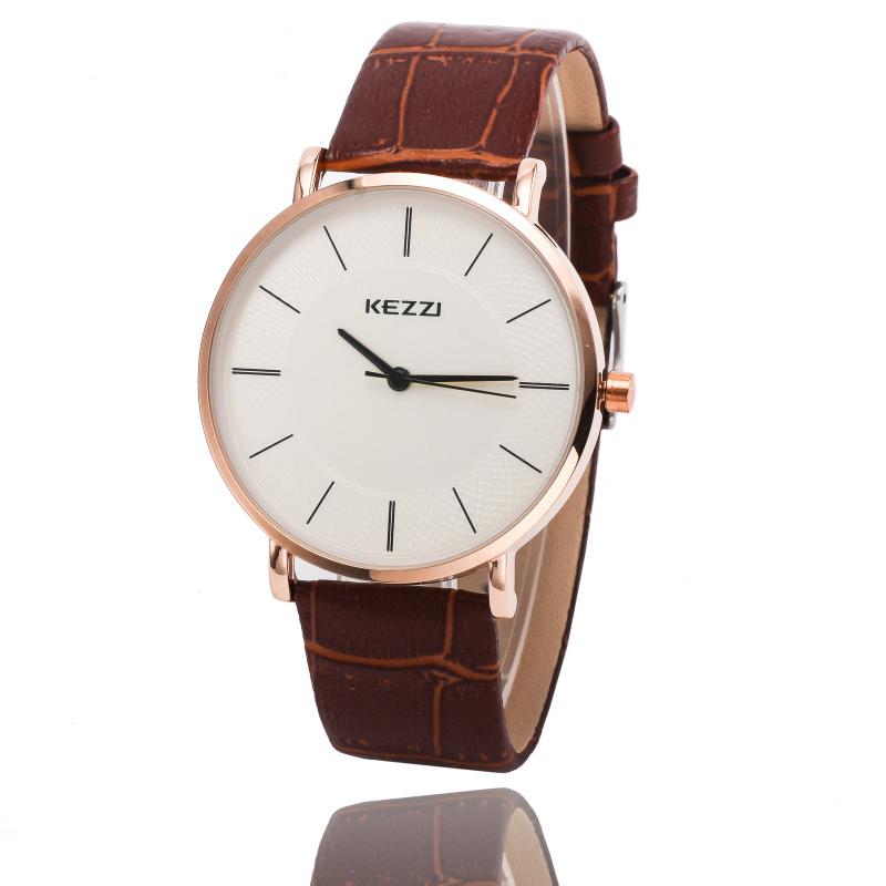 Часы мужчины Kezzi известных фирм 2015 мода кожа мужчины высокое качество кварцевые часы аналоговые Relojes k738 Relogio Masculino