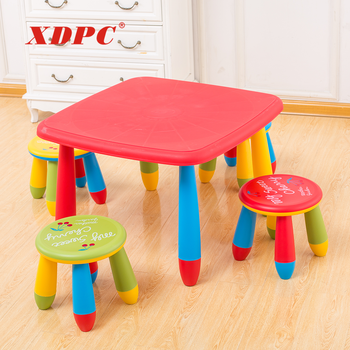 Bulk children furniture bedroom kids plastic table and chair set