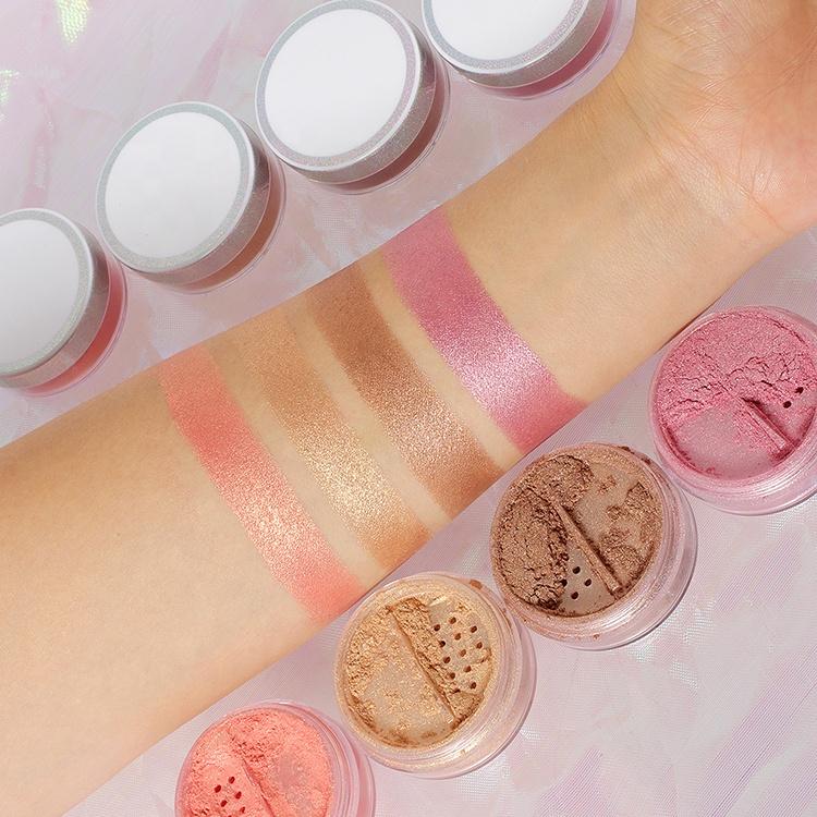 Face Makeup Private Label Loose Shimmer Highlighter Powder