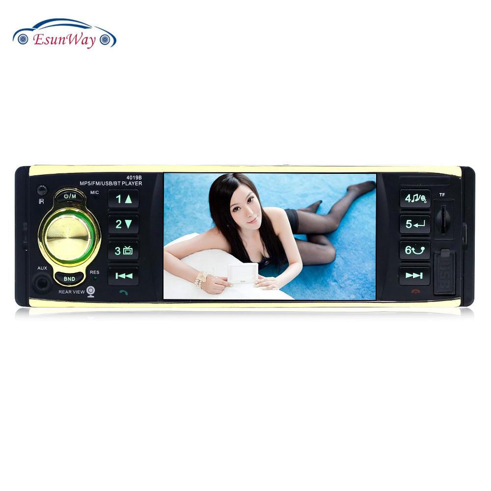 4 дюйма прокат авто радио с подключенным накопителем USB приемник MP5 аудиосистема FM 2 din автомобильный стерео проигрыватель для путешествий с сенсорным экраном реверсивный радио 4019
