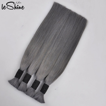 Virgin Indian Remy Human Bulk Braiding Hair Blonde Color No Weft