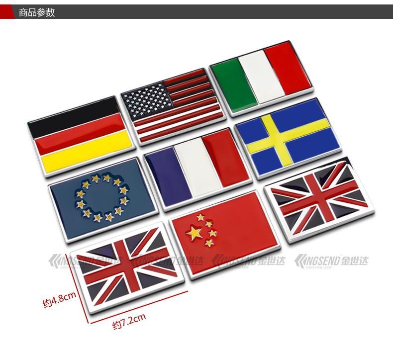 Metallaufkleber Usa Uk Gremany Frankreich Italien Schweden Nationalflagge Emblem Diy Metall Auto Aufkleber Body Cover Auto Heck