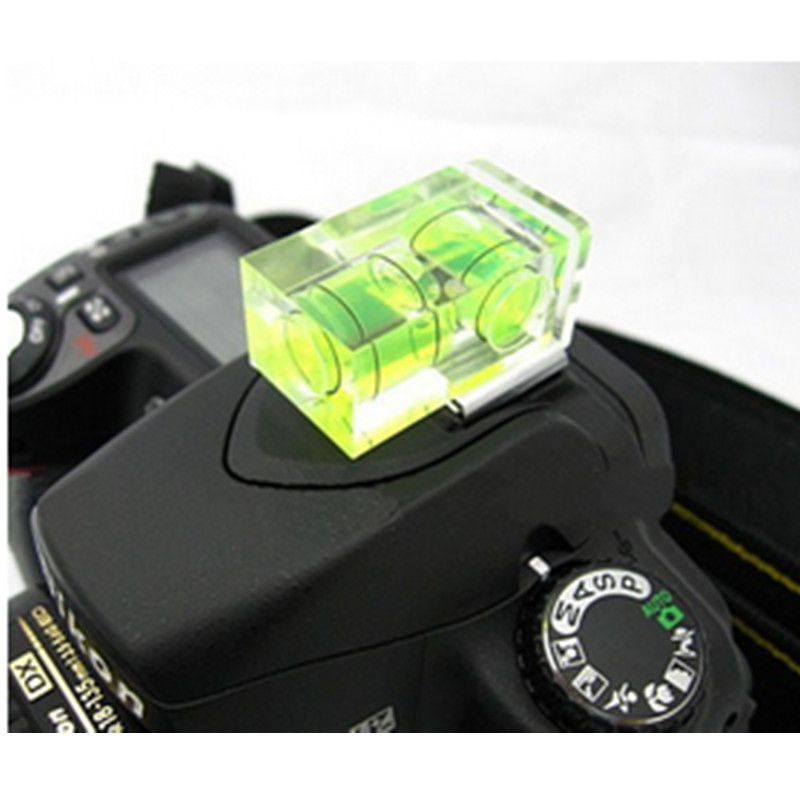 EU SALE Hot Shoe Two Axis Double Bubble Spirit Level for Digital and Film Cameras J450