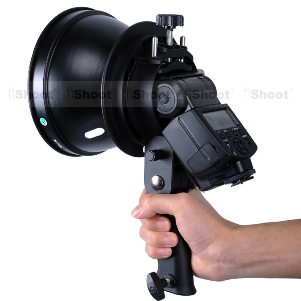 Портативный Speedlite кронштейн вспышки ручки зонтик держатель с адаптером + Bowens горе фотостудия строб лампа с отражателем тень
