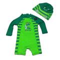 Anti UV Long Sleeve Swimwear Kids Animal Print Kid Boys Swim Suit Zipper Jumpsuits High Quality
