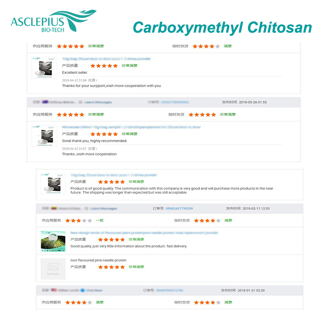 Распродажа по оптовой цене, высокомолекулярный Карбоксиметил хитозан в качестве пищевых добавок