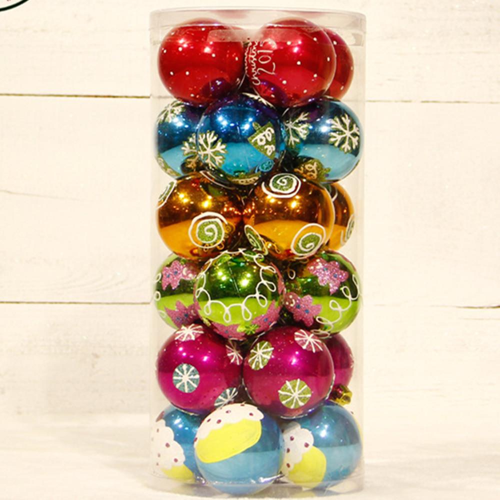 24pcs 6cm wholesale Top quality luxury plastic christmas ...