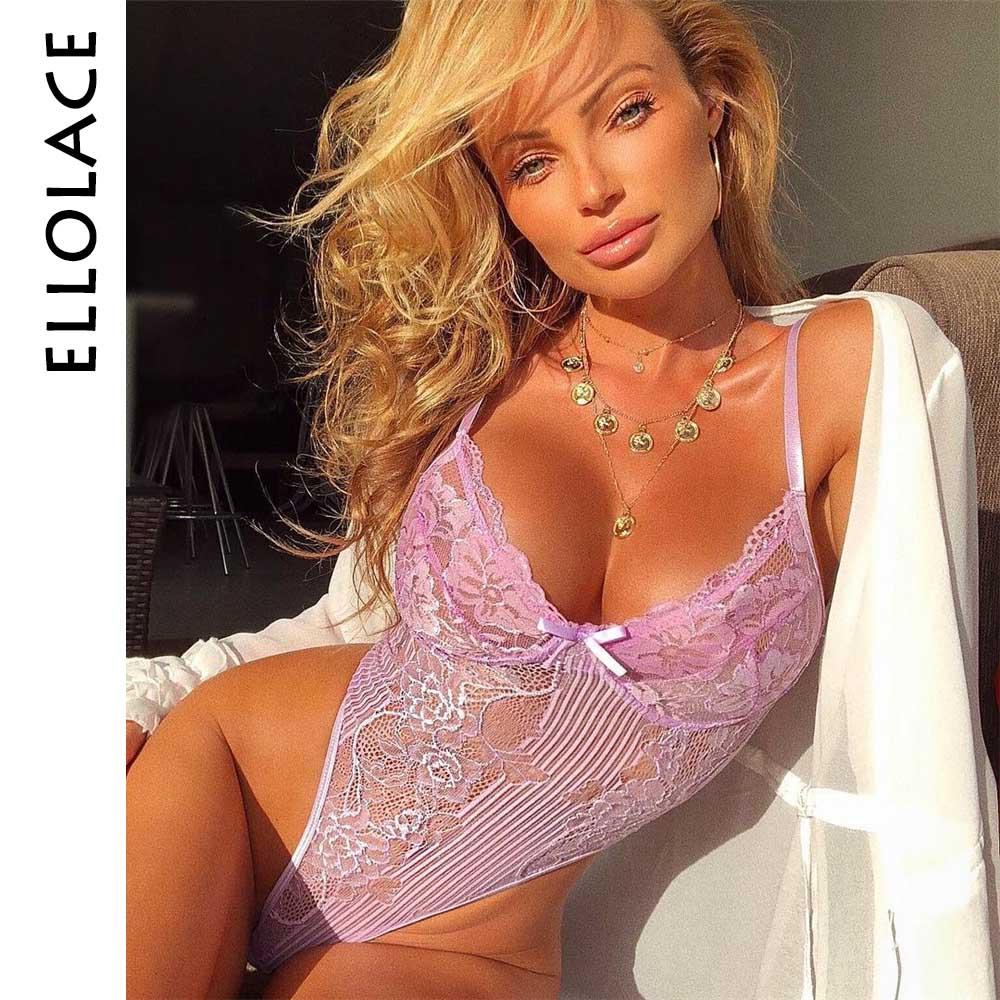 Ellolace неоновый летний кружевной боди 21 цвета для женщин с цветочной вышивкой галстук-бабочка прозрачный сексуальный боди комбинезон для веч...(Китай)