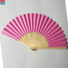 Custom printed plastic promotional folding hand fan China