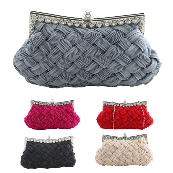 1711b2068ae9 Fashion Satin Envelope Messenger Solid Color Luxury Handbags Women ...