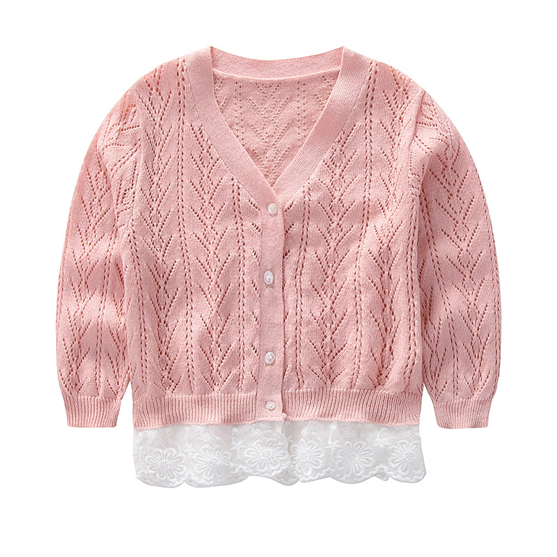 2019 Spring Baby Girl Sweater Coat Lace Knit Cardigan Korean Cotton Hook  Flower Toddler Girl Sweater Girls Sweaters Free Knitting Patterns For  Little