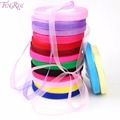 FENGRISE Wedding Decoration 10mm Organza Ribbon Gifts Wrapping DIY Roll Birthday Party Favors Bridal Baby Shower
