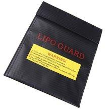 Rc Lipo Battery Safety Bag Safe Guard Charge Sack 23X18 Cm Black