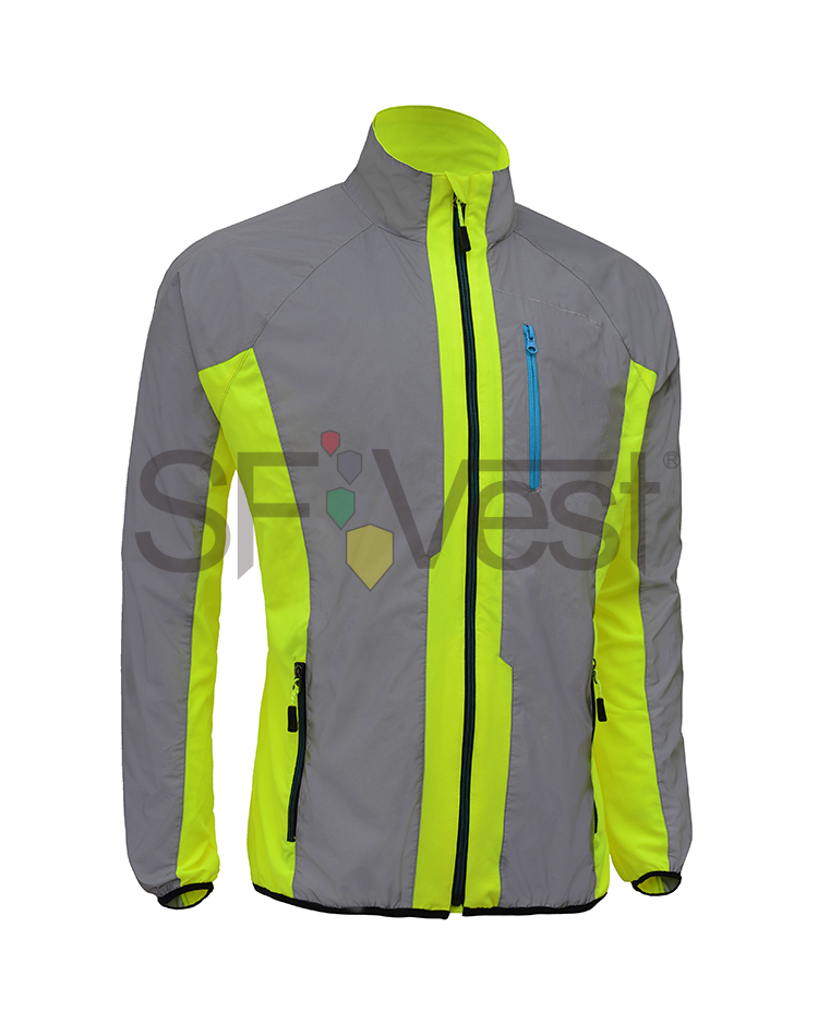 Light weight High Visibility Outdoor Hi Vis jacket Sports cycling Safety Reflective jacket - KingCare | KingCare.net
