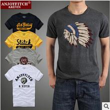 2015 New fashion Famous brand hollistic t shirt men 100 % cotton abercr for ombi men T-shirt,summer style t-shirt