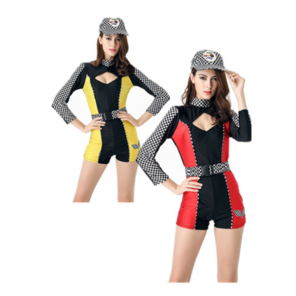 instyles Sexy Lady Super Car Racer Racing Sport Driver Grid Girl Fancy Costume