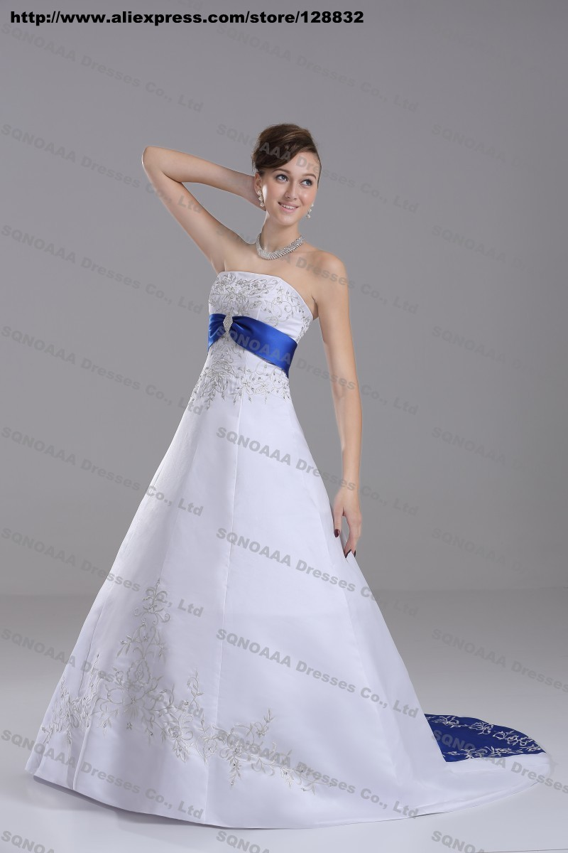 Wedding Dresses In Royal Blue And Silver - Wedding Gown ...