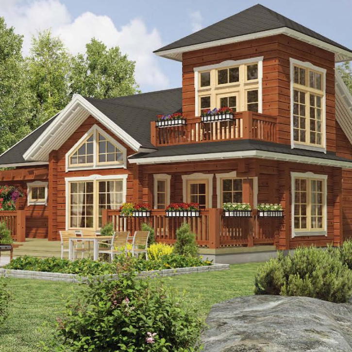 Beautiful new design popular villa house wooden house for hot sale