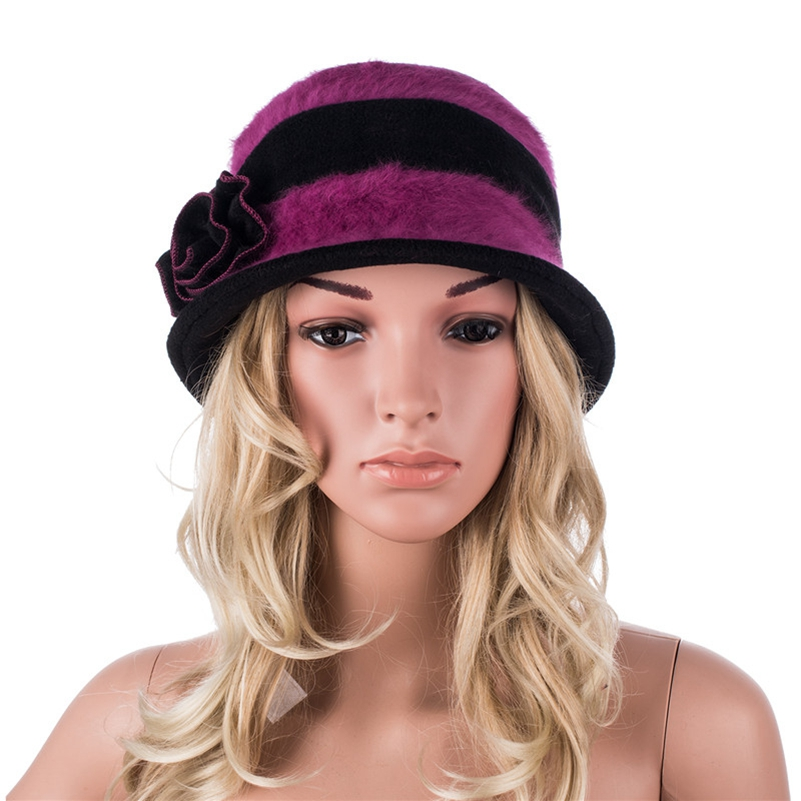 6c722d24609ef A377 High quality Fashion Fur Hat Women s Fedora Hats for Women Winter  Multi color Cloche Leisure Ladies Hat-in Fedoras from Women s Clothing    Accessories