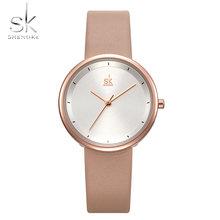 SHENGKE новые женские часы Повседневный дизайн синий кожаный ремешок женские кварцевые часы платье наручные часы Relogio Feminino Bayan Kol Saati(Китай)