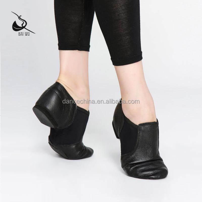 116136001 оптовая продажа танцевальных кожаных черных и желто-коричневых джазовых туфель
