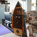 1pcs 57 handmade boat Rowing shaped Wine Cabinet for decoration