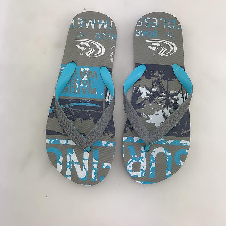 Популярный новый дизайн со скидкой прочные однотонные фиолетовые Мужские дешевые пляжные резиновые шлепанцы большого размера сандалии с логотипом