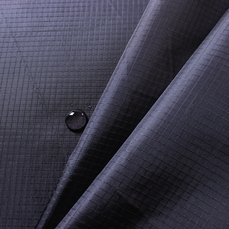 Factory price 0.3cm ripstop 210t polyester taffeta fabric with pa coating