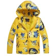 2015 HOT minions boys girls sweatshirt with fleece coat kids sport hoodies outerwear children jackets clothing autumn winter