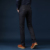 Autumn Classic New High Quality Men's Elastic Casual Pants Mens Business Dress Slim slacks Long Trouser Male