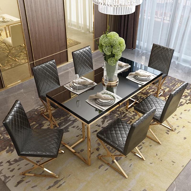 Set Furnitur Ruang Makan Mewah Modern Buy Dining Room Furniture Sets Modern Dining Room Set Luxury Dining Room Set Product On Alibaba Com