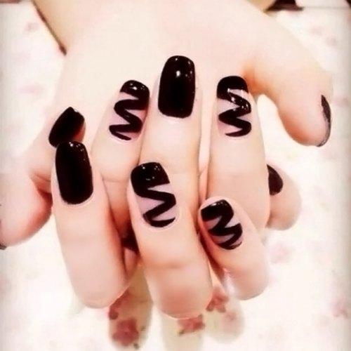 black square acrylic nails - photo #21