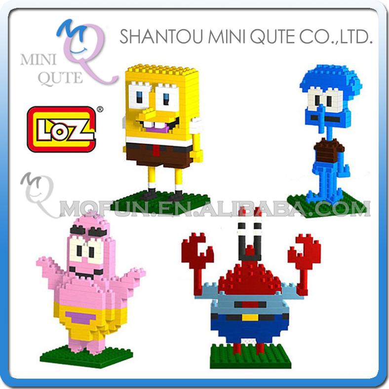 Mini Qute kawaii 4 styles cartoon kids loz diamond block plastic building blocks brick action figures